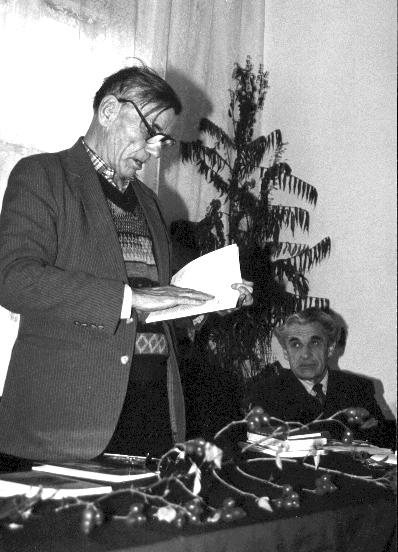Теодор Кузяк на єдній з Лемківскых Творчых Осени в Рускій Бурсі