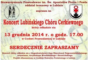 Koncert Lubin plakat 2014