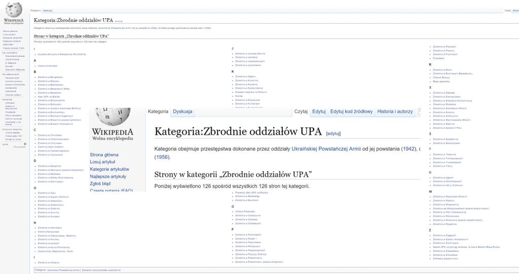 спис некотрых масовых вбиств доконаных през ОУН - УПА на обшыри Польщы