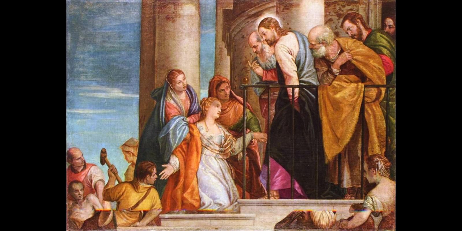 Curación de la hemorroísa, de Veronés (ca. 1570)