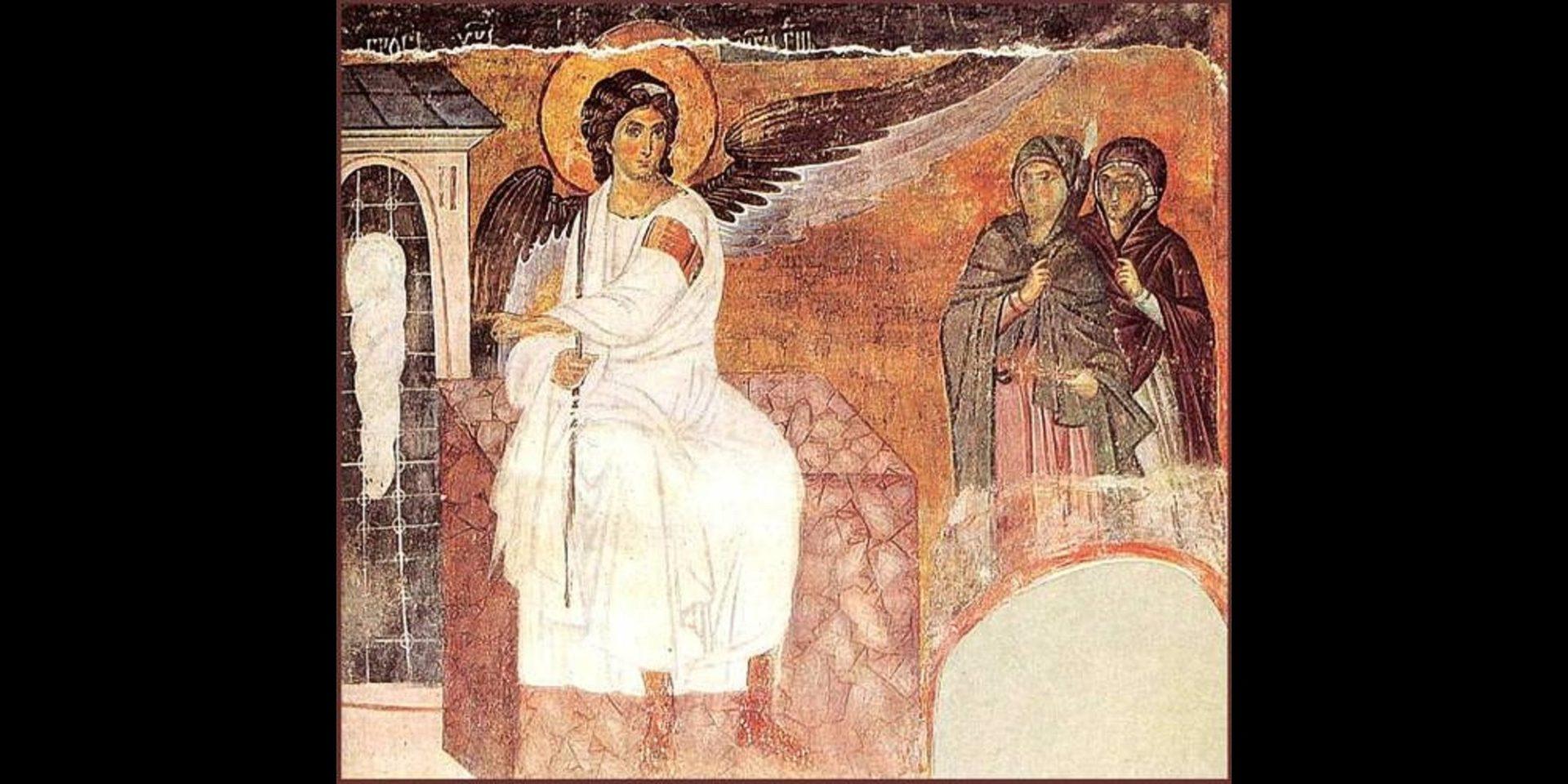 Myrrhbearers on Christ's Grave