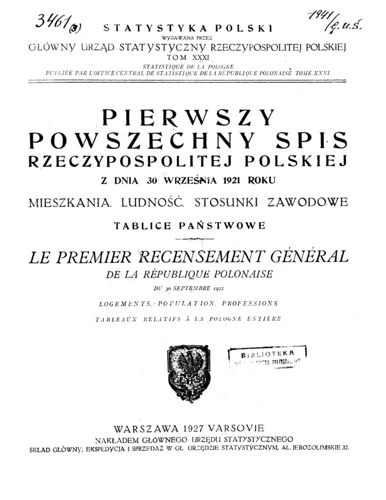 Повселюдный перепис населіня 1921 р.