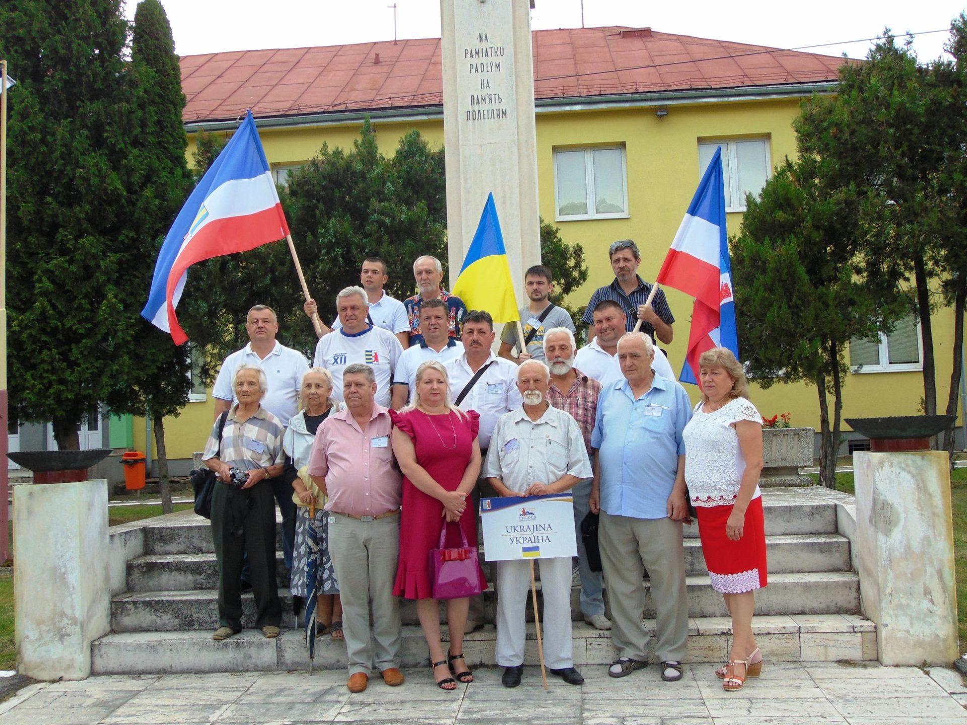 В Камюнці на Словакії як член делеґації Світового конґресу Русинів за Україну.
